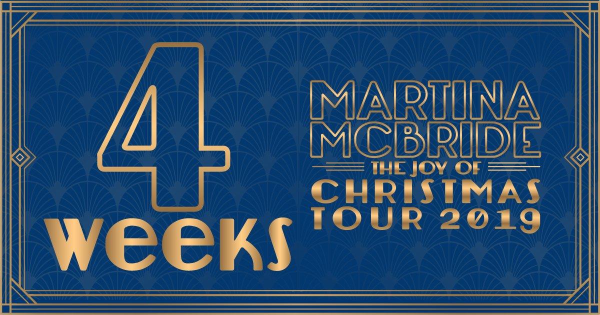 FOUR. WEEKS. until the #JoyOfChristmasTour! Comment where Ill see you! martinamcbride.com/tour