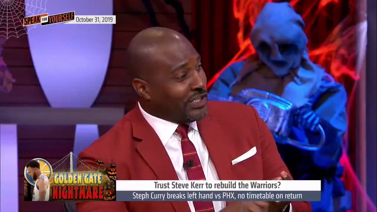 """.@MarcellusWiley trust that Steve Kerr will get the Warriors back on track but it won't be this season  """"This is a redshirt year for an organization. It would be inappropriate to put this responsibility of doing something with this team with the lack of star power this year."""""""