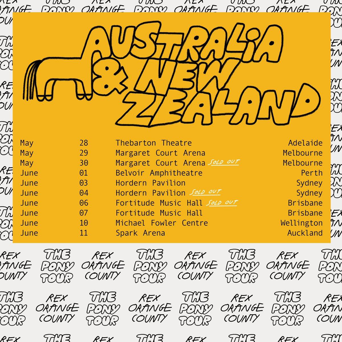 AUS/NZ ... NEW SHOWS ADDED in Melbourne, Sydney and Brisbane - scrtsnds.co/RexOrangeCount… thank u 💛