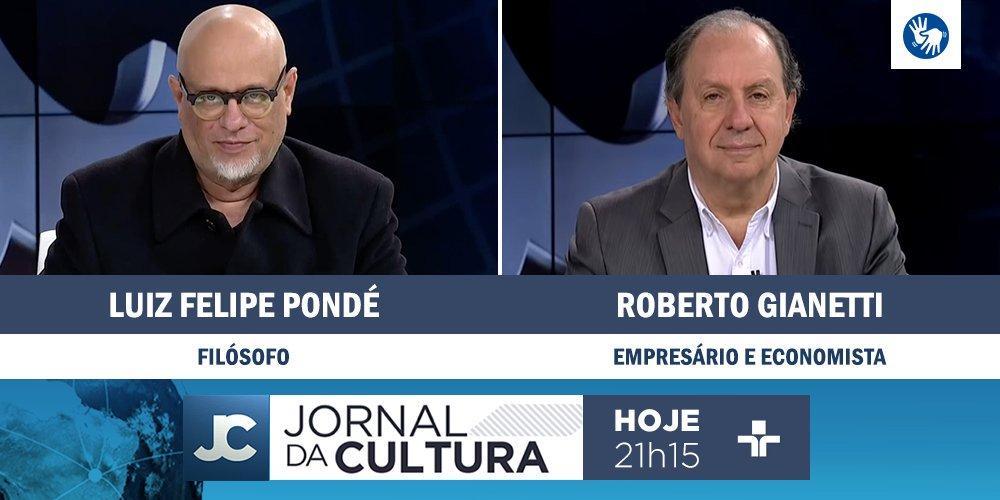 DAQUI A POUCO: @KarynBravo recebe os comentários do filósofo @lf_ponde e do economista Roberto Giannetti da Fonseca. Às 21h15. #JornaldaCultura