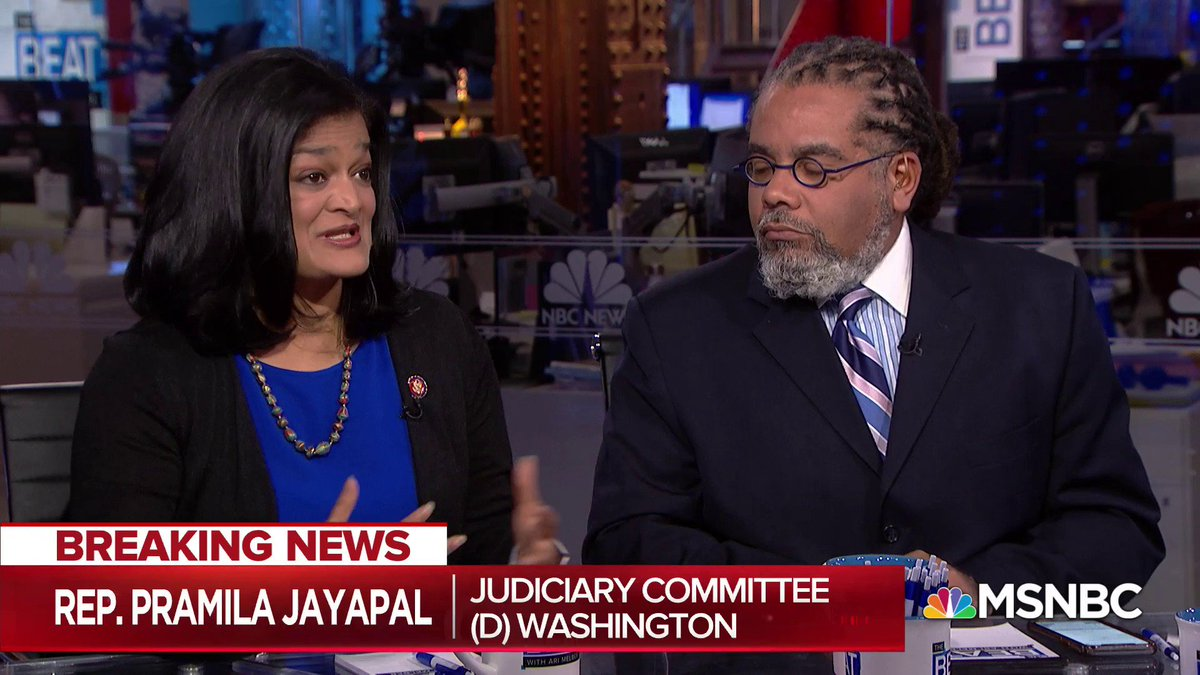 NOW: Judiciary Committee member @RepJayapal joins @ministter and @AriMelber to discuss todays historic House vote on impeachment procedures.