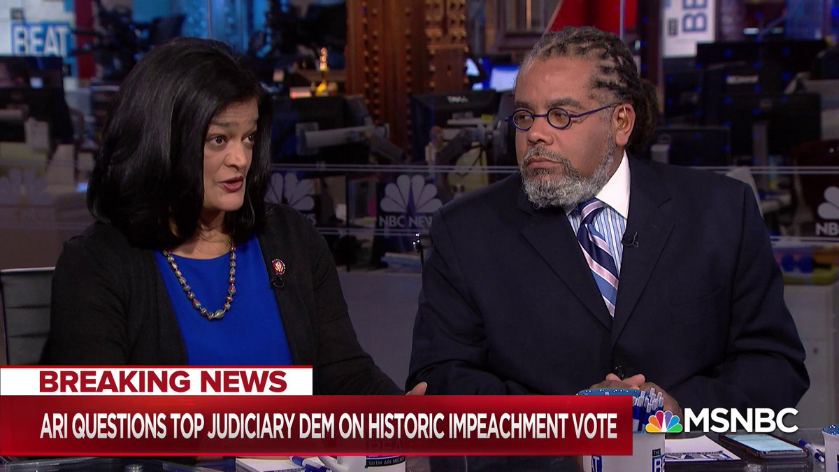 .@RepJayapal on House Dems impeachment strategy going beyond Ukraine: I think we are going to try to be focused, and just bring forward the things that are most important for us to vote on, because they are serious betrayals of the Constitution.