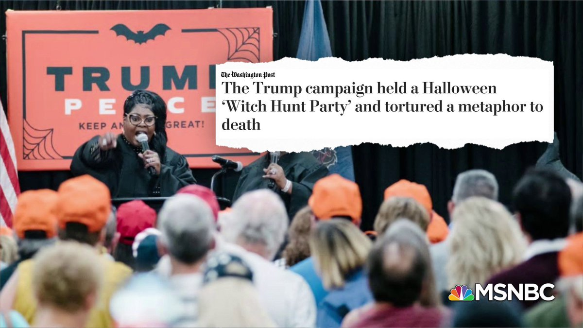 As Congress cast their historic impeachment proceeding vote, and the country celebrates Halloween, Trump and his campaign decided to throw a Witch Hunt party.