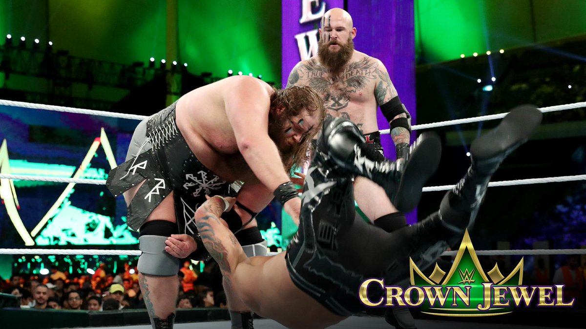 When it was all said and done, @LukeGallowsWWE & @KarlAndersonWWE took down the #VikingRaiders to win the WWE Tag Team World Cup at #WWECrownJewel and the right to call themselves the BEST TAG TEAM IN THE WORLD! http://wwe.me/7Zjr4M