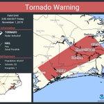 Image for the Tweet beginning: Tornado Warning including Havelock NC,