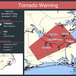 Image for the Tweet beginning: Tornado Warning continues for Havelock