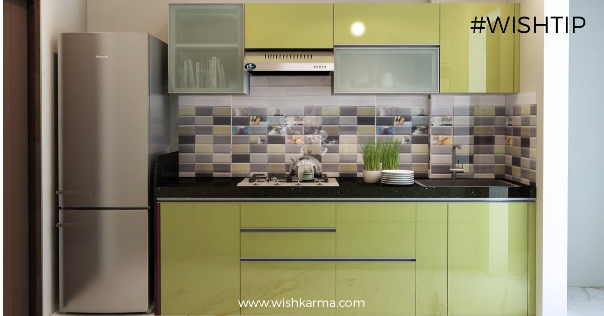 Wishkarma Com A Twitteren One Wall Layout For A Small Kitchen A Single Wall Kitchen Layout Embodies The Less Is More Concept Which Is Kind Of What The Minimalistic And Compact Style Of A Modern