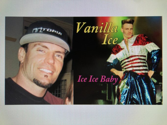 Happy 52nd Birthday to Vanilla Ice! The rapper who performed Ice Ice Baby.