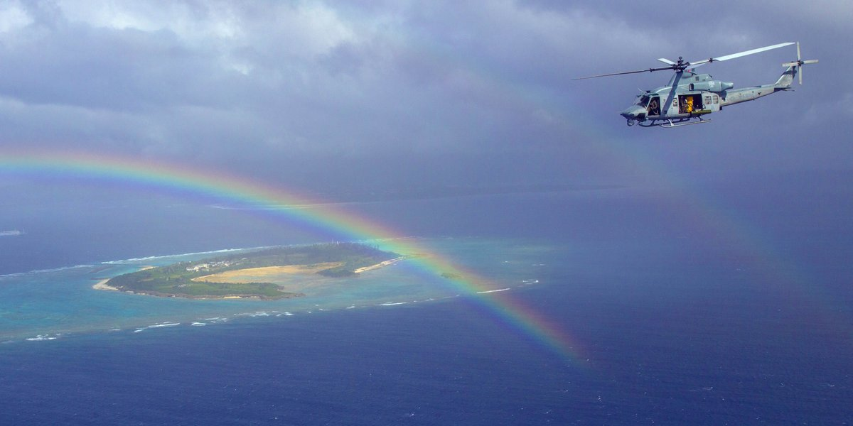 You voted and October's Top Shot comes from Lance Cpl. Madeline Jones with @1stMAW_Marines. She captured an UH-1Y Huey helicopter with Marine Light Attack Helicopter Squadron 169 flying over Okinawa, Japan.