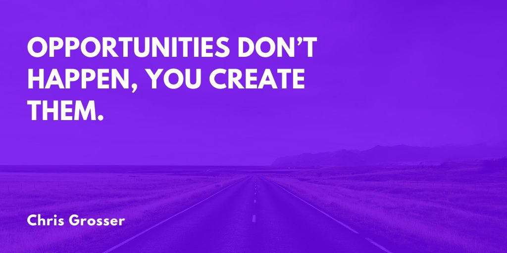 Get out there and create your own opportunities. No one else is going to do it for you. 🚀 https://t.co/rOl342AYhQ