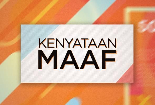 Astro AWANI memohon maaf kepada semua rakyat serta kerajaan negeri Sabah dan Sarawak atas kesilapan label pada grafik yang ditayangkan pada 27 & 28 Oktober lalu. Pihak kami amat kesal dengan kesilapan itu. Kami akan terus berusaha bawakan pengalaman berita terbaik untuk anda.