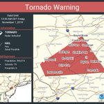 Image for the Tweet beginning: Tornado Warning continues for Somerset