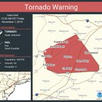 Image for the Tweet beginning: Tornado Warning continues for Franklin
