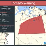 Image for the Tweet beginning: Tornado Warning continues for Chesapeake