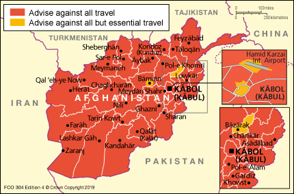 I see the FCO travel advice map for Afghanistan is looking pretty bleak these day...