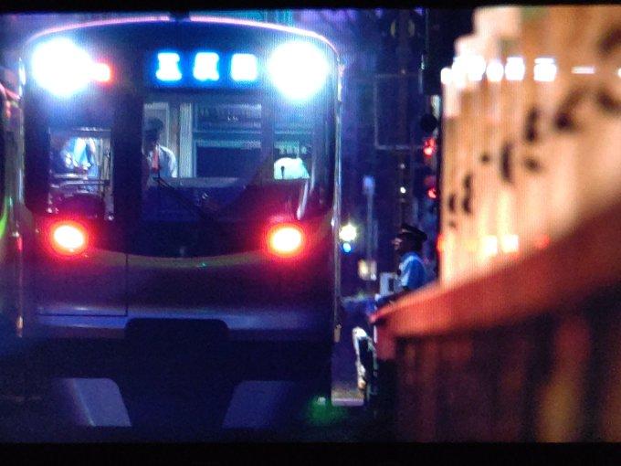 東急池上線の旗の台駅~長原駅間の人身事故の現場の画像