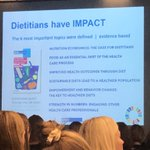 Image for the Tweet beginning: Dietitians have impact! And they
