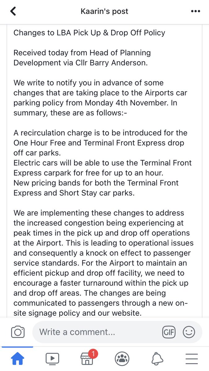 @LBIAirport is this true? Parking prices changing on 4th Nov?