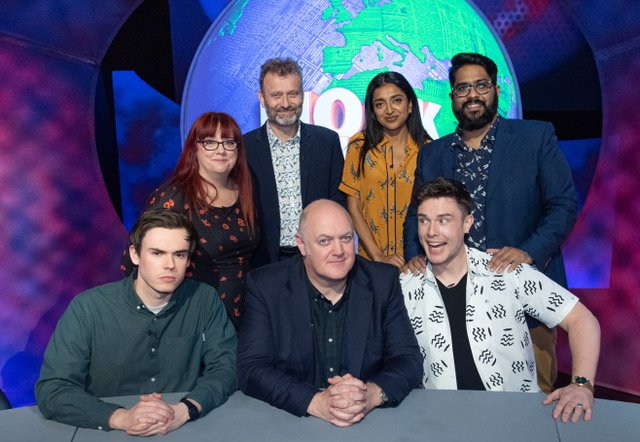 Show Day! Tune in to #BBC2 at 10pm for our take on the last seven days. Joining Dara and Hugh are @rhysjamesy @AngelaBarnes @sindhuvfunny @eshaanakbar and @EdGambleComedy