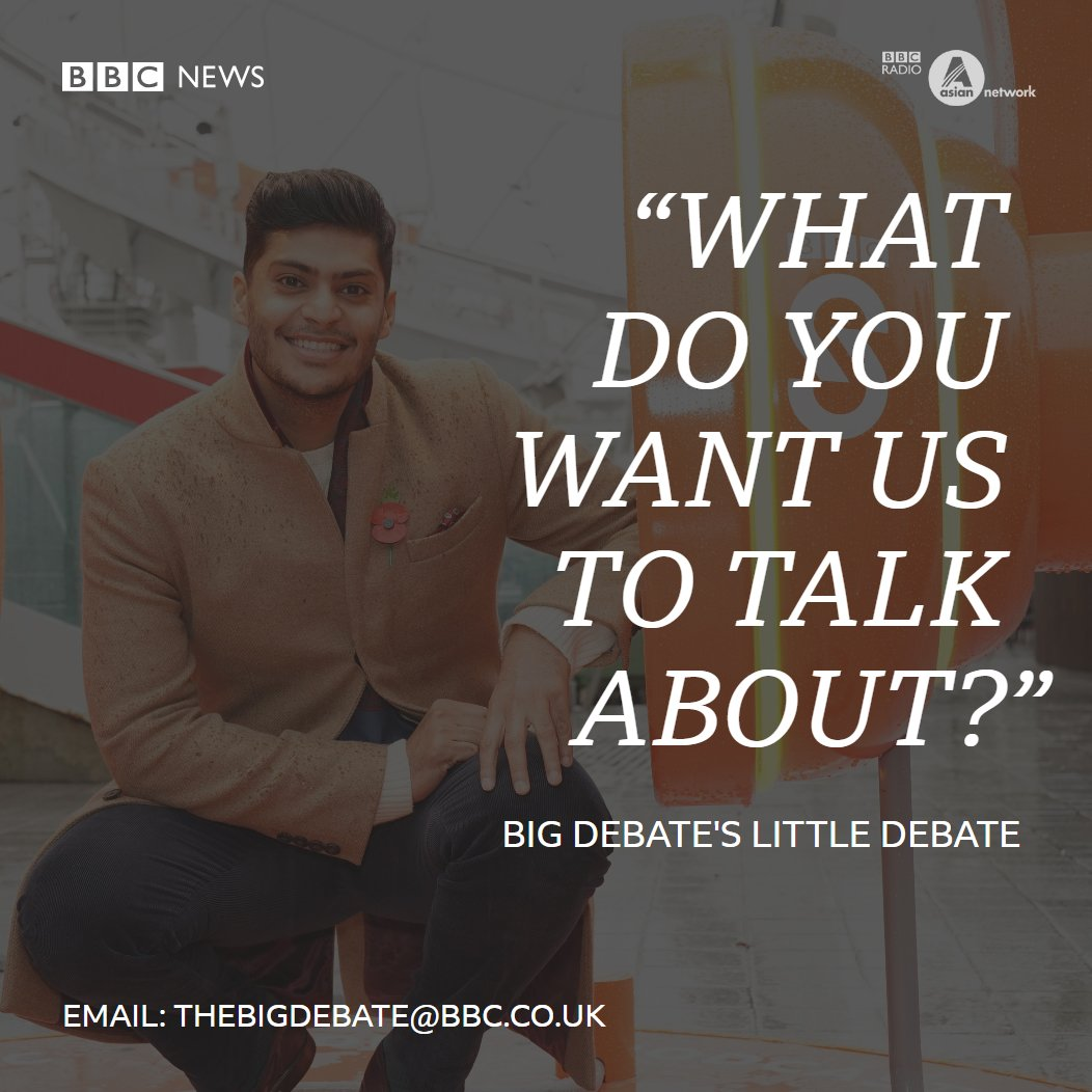 This is your chance to decide what we talk about on the Big Debate! From family and relationship issues to the state of the nation, tell us what YOU care about. Email your ideas to: thebigdebate@bbc.co.uk