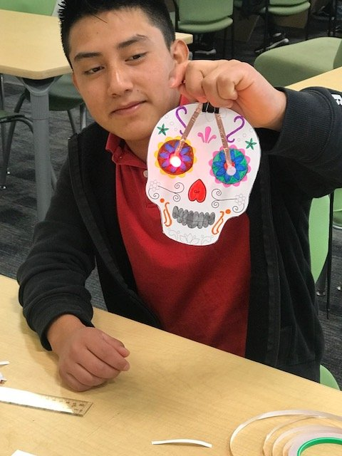 Day of the Dead W-L Library makerspace project with Ms. Prange's EL class. <a target='_blank' href='http://twitter.com/WL_Library'>@WL_Library</a> <a target='_blank' href='http://twitter.com/GeneralsPride'>@GeneralsPride</a> <a target='_blank' href='http://twitter.com/APS_ESOL'>@APS_ESOL</a> <a target='_blank' href='http://twitter.com/APSLibrarians'>@APSLibrarians</a> <a target='_blank' href='https://t.co/PP2gdkgQlx'>https://t.co/PP2gdkgQlx</a>