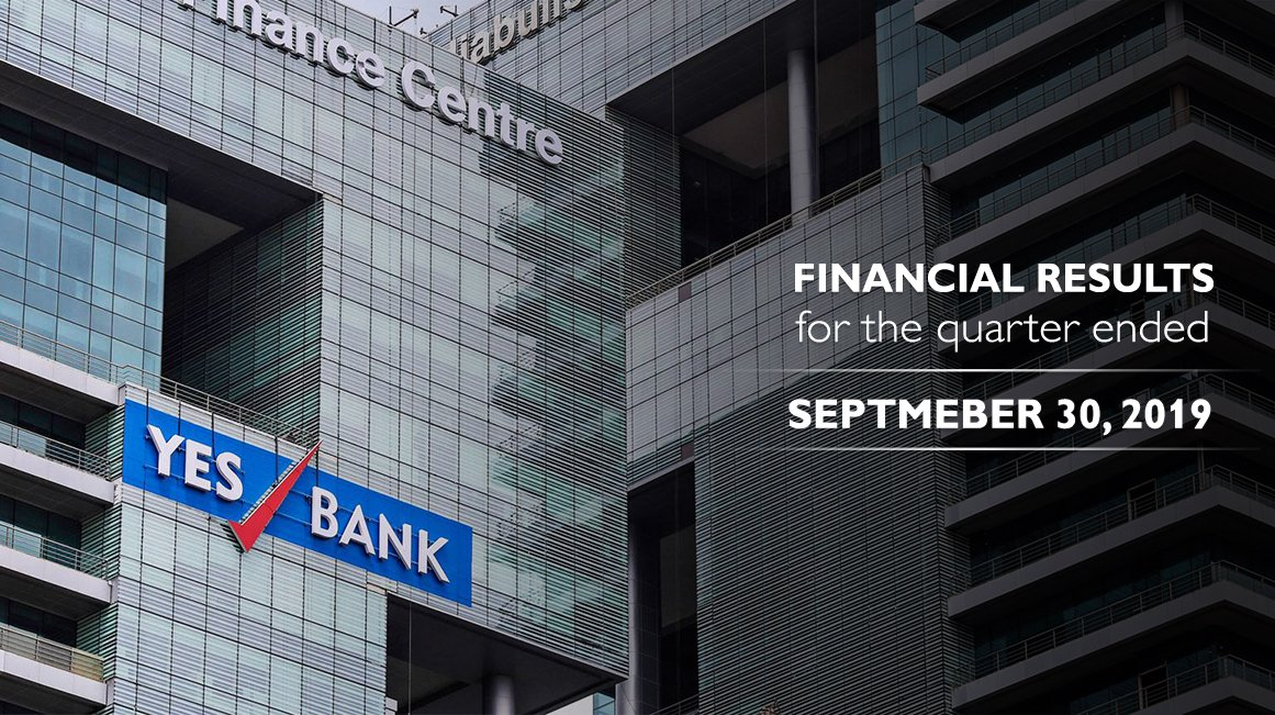 YESBANK announces Financial Results for the Quarter ended September 30, 2019. Read More https t.co k64s6MXpjz https t