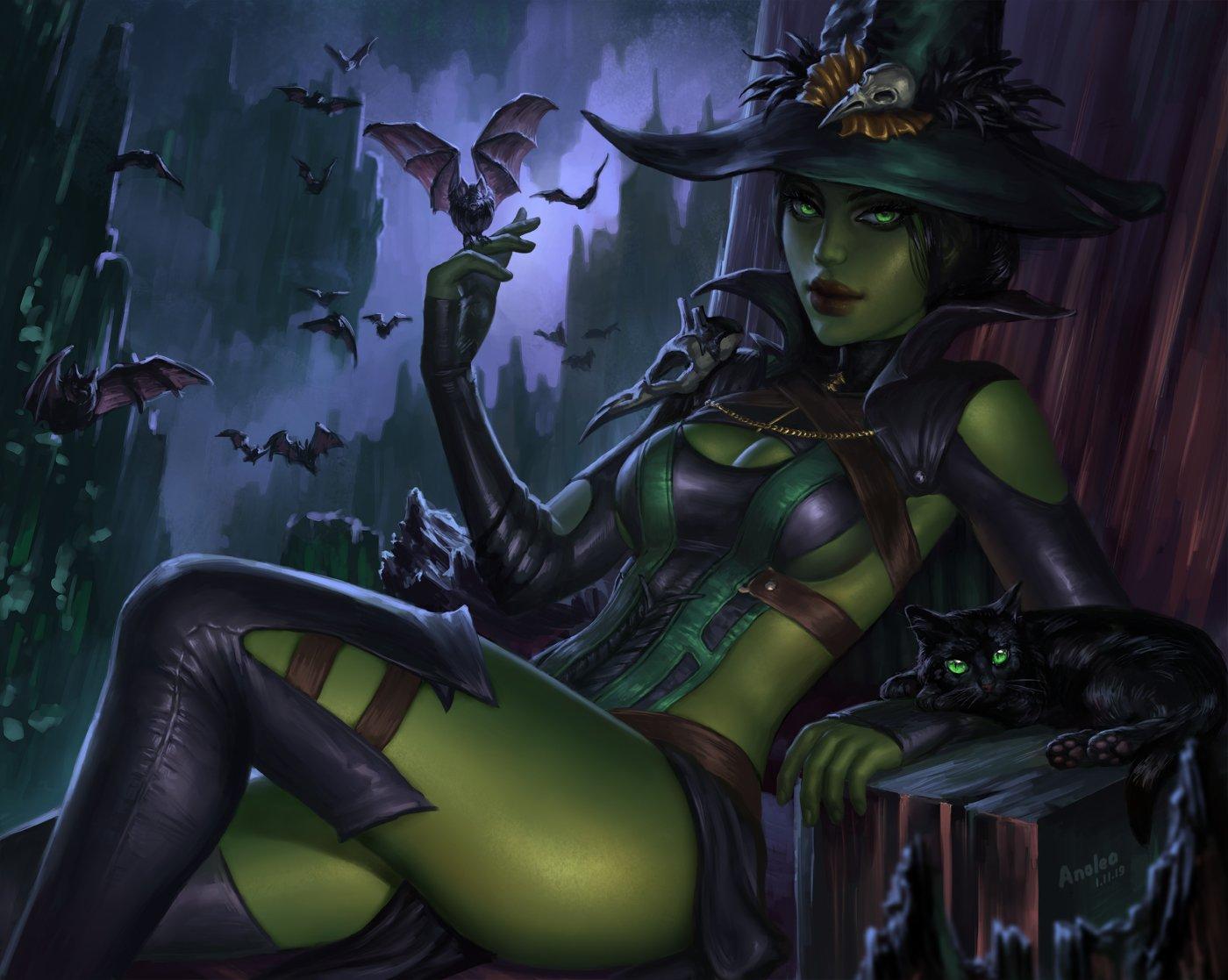 Anolea 18 On Twitter Wicked Witch Jade From Mortal Kombat 11