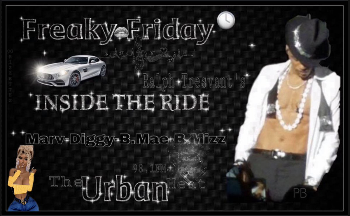 We're at the End of Another Great Week of Music & Fun! @RalphTresvant 's #InsideTheRide w/ @MarvNeal @The1TrueJDiggy B.Mae & @Bigmiz0380Payne! It's #FreakyFridayY'all  hop on 98.1FMTheUrbanHeat today and Join Us as We Rock right into the Weekend! UBNTU Family!<br>http://pic.twitter.com/QWknvKrUjL