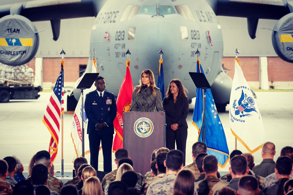 It was a great visit w/ @SecondLady to Charleston on Wednesday! Thank you @Lambs_SC & JB Charleston @teamcharleston for welcoming us & for the amazing work happening within this community & in communities around the world. God bless our men & women in uniform. #BeBest