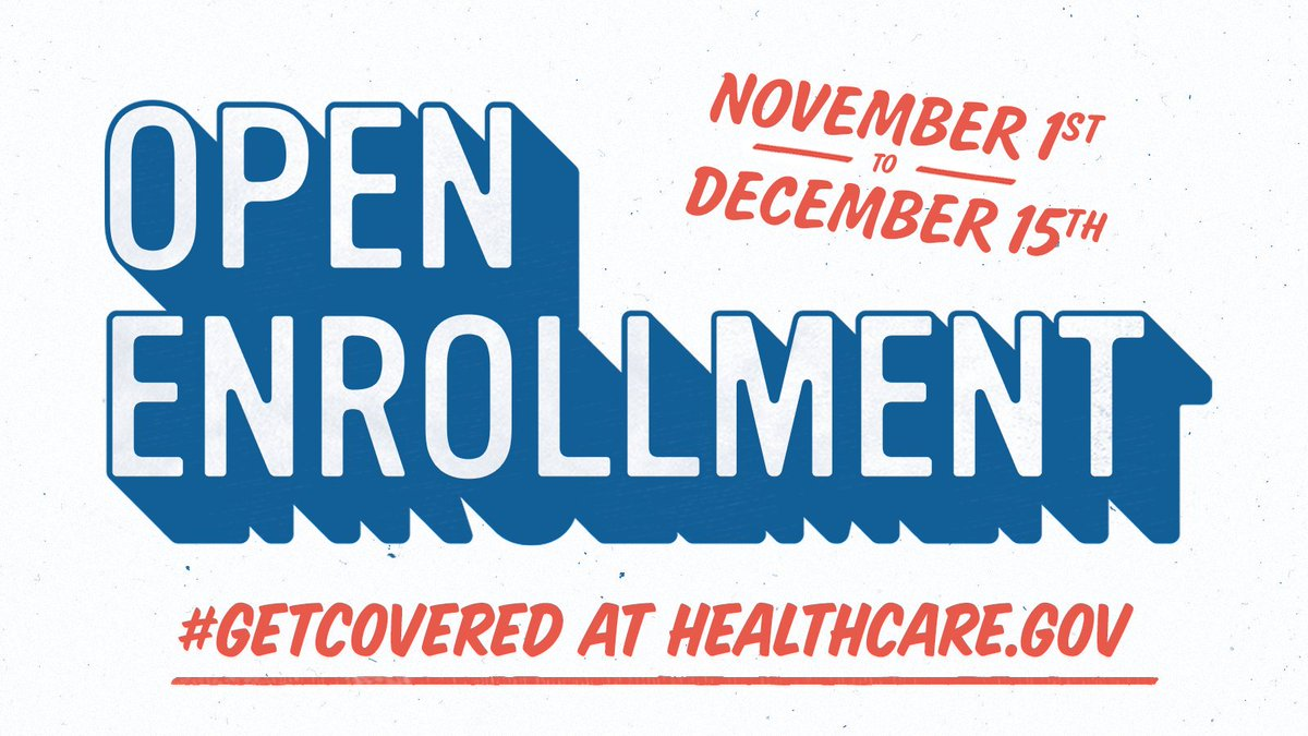 📢 ACA Open enrollment starts TODAY. Between now and December 15th, you can: ✅Update your coverage ✅Change health insurance providers ✅Renew your plan Explore your options and find a plan that works best for you and your family at healthcare.gov
