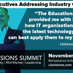 Image for the Tweet beginning: Heading to the CIO Visions