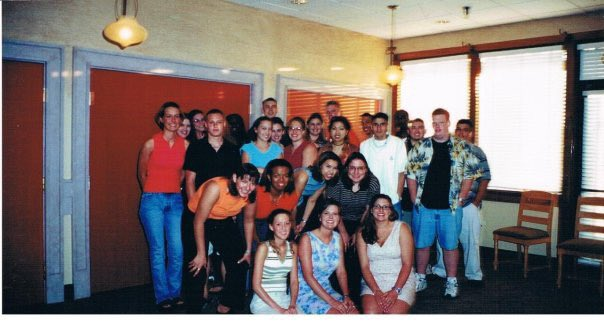 In honor of DECA Month, here's a pic of the charter chapter of Creekview HS!!Fall 2000!!!