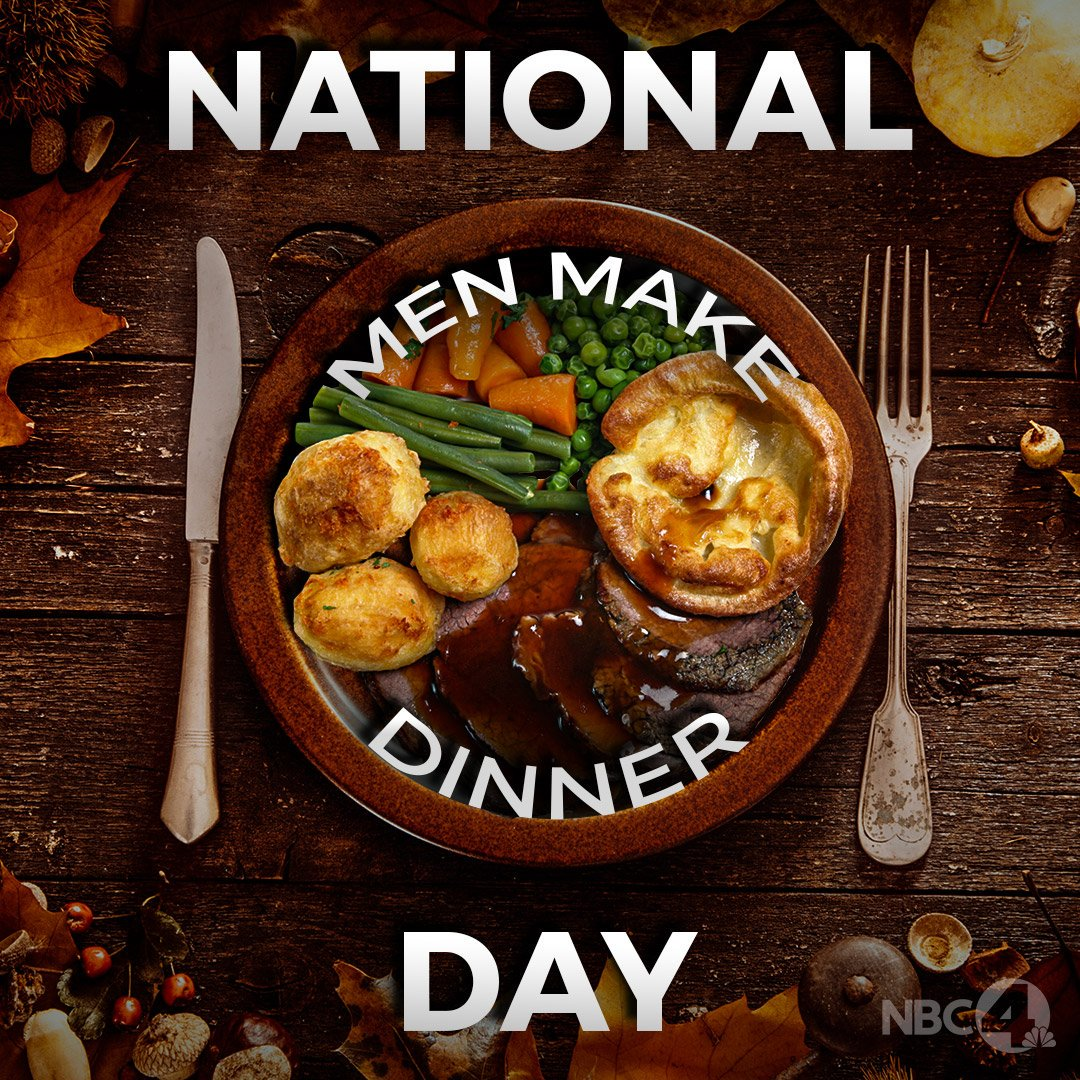 Insulting to men & women! @nbc4i: National Men Make Dinner Day! Its the day for men to take charge in the kitchen