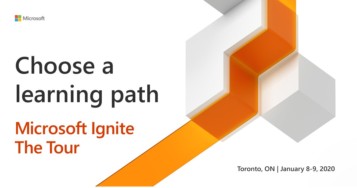 Microsoft top engineers team is hitting the road to come to you in #Toronto! Don't miss Microsoft Ignite The Tour and join us in January. #MicrosoftIgniteTheTourhttp://msft.it/6017Tr5Iv