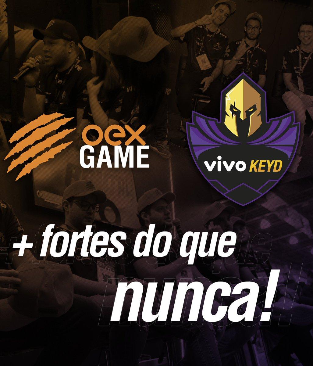 A OEX Game é a nova patrocinadora da @vivokeyd!  Os jogadores das ligas profissionais da Vivo Keyd utilizarão os equipamentos da OEX Game durante toda a temporada de 2020! Tamo junto, VK! #GoVK #VivoKeyd #OEXGame pic.twitter.com/DBrdHmmTuP