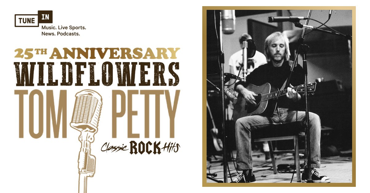 .#TomPettys beloved 1994 album #Wildflowers blossomed 25 years ago today. 🌻🎸 Hear cuts from the LP all weekend on Classic Rock Hits: listen.tunein.com/tompettyannive…