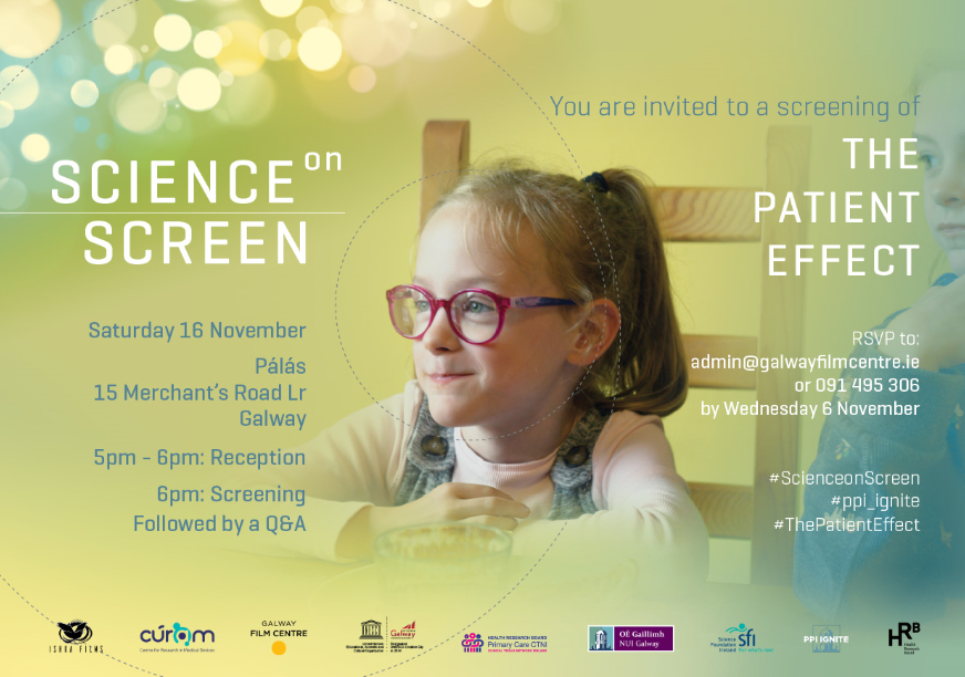 test Twitter Media - Congrats to all involved in The Patient Effect documentary about Public & Patient Involvement in research! Registration now open for screening in @PalasGalway on November 16th! Find out more https://t.co/m3PgCiQe7t. #ThePatientEffect @PPI_NUIG @pmrycaretrials1 @d1nowIE https://t.co/AZbSdvsCAa