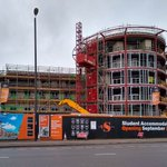 Works are progressing at pace as we head towards the turn of the year. Externally the window frames are being installed with the superstructure brickwork about to follow behind. Internally the 1st fix partitions works have now commenced.  #Coventry @TorsionDevelop #Studen #Living