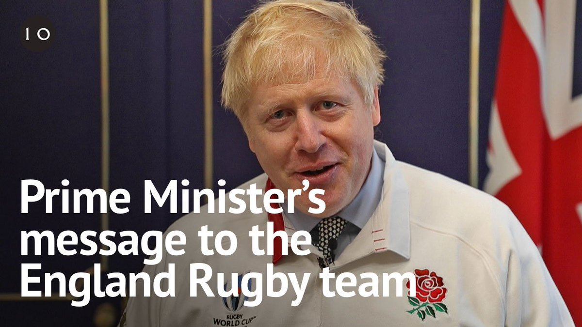 I absolutely know you can bring back the cup from Japan. Go for it England. – PM @BorisJohnsons message to @EnglandRugby ahead of their #RWCFinal against the @Springboks #RWC2019 #ENGvRSA #CarryThemHome 🏴