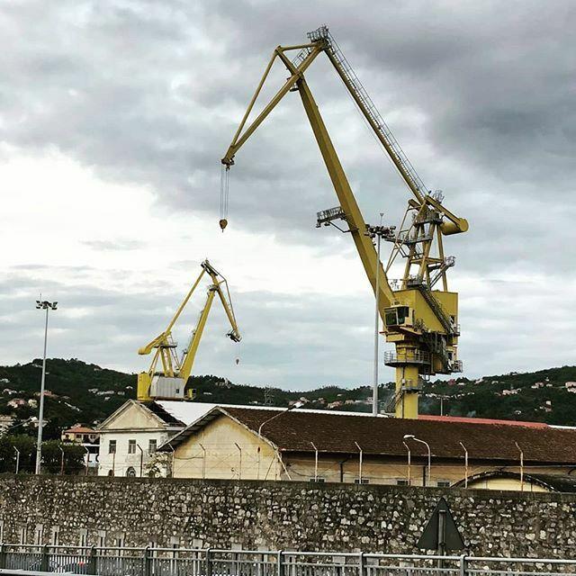 #spezia #speziakran #italy #italien #europe #cranebrothers #kpv #yellowcrane pic.twitter.com/Gth44b7dez
