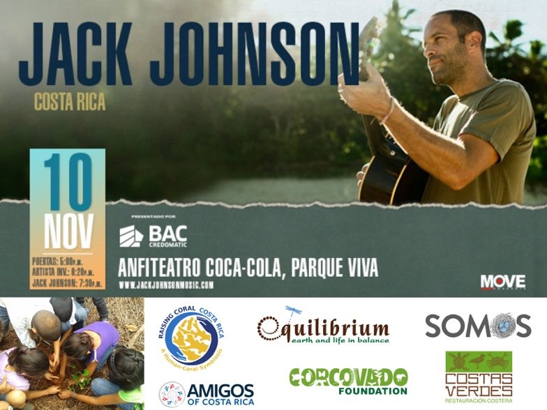 """Jack is excited to support @allatonceorg Non-Profit Partners at his show in Costa Rica Nov. 10! Fans can take action in the Village Green & get stamps in their All At Once Passports to enter to win """"Best Seats in the House""""...a chance to watch the show from the stage!"""