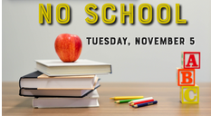 Fleet Families Don't Forget No School Tomorrow on Tuesday, November 5th for Grade Preparation Day! <a target='_blank' href='http://search.twitter.com/search?q=FleetES'><a target='_blank' href='https://twitter.com/hashtag/FleetES?src=hash'>#FleetES</a></a> <a target='_blank' href='http://twitter.com/Principal_Fleet'>@Principal_Fleet</a> <a target='_blank' href='http://twitter.com/Fleet_AP'>@Fleet_AP</a> <a target='_blank' href='http://twitter.com/APSFleetPTA'>@APSFleetPTA</a> <a target='_blank' href='http://twitter.com/Fleet_ITC'>@Fleet_ITC</a> <a target='_blank' href='http://twitter.com/APSVirginia'>@APSVirginia</a> <a target='_blank' href='https://t.co/sGiJaGv1ZD'>https://t.co/sGiJaGv1ZD</a>