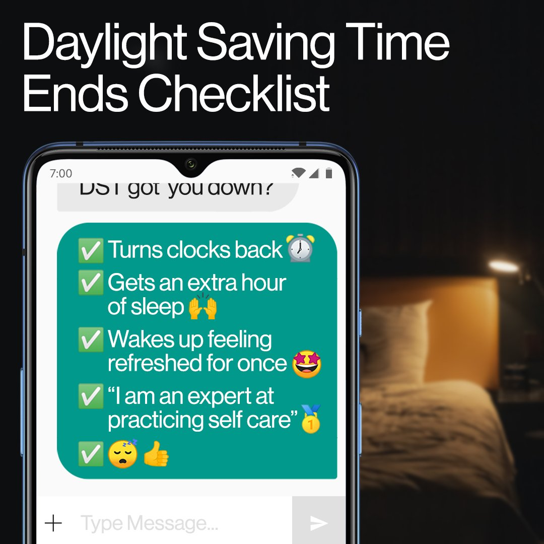 Resetting my #OnePlus alarm to get that extra hour of my life back 😴#DaylightSavings