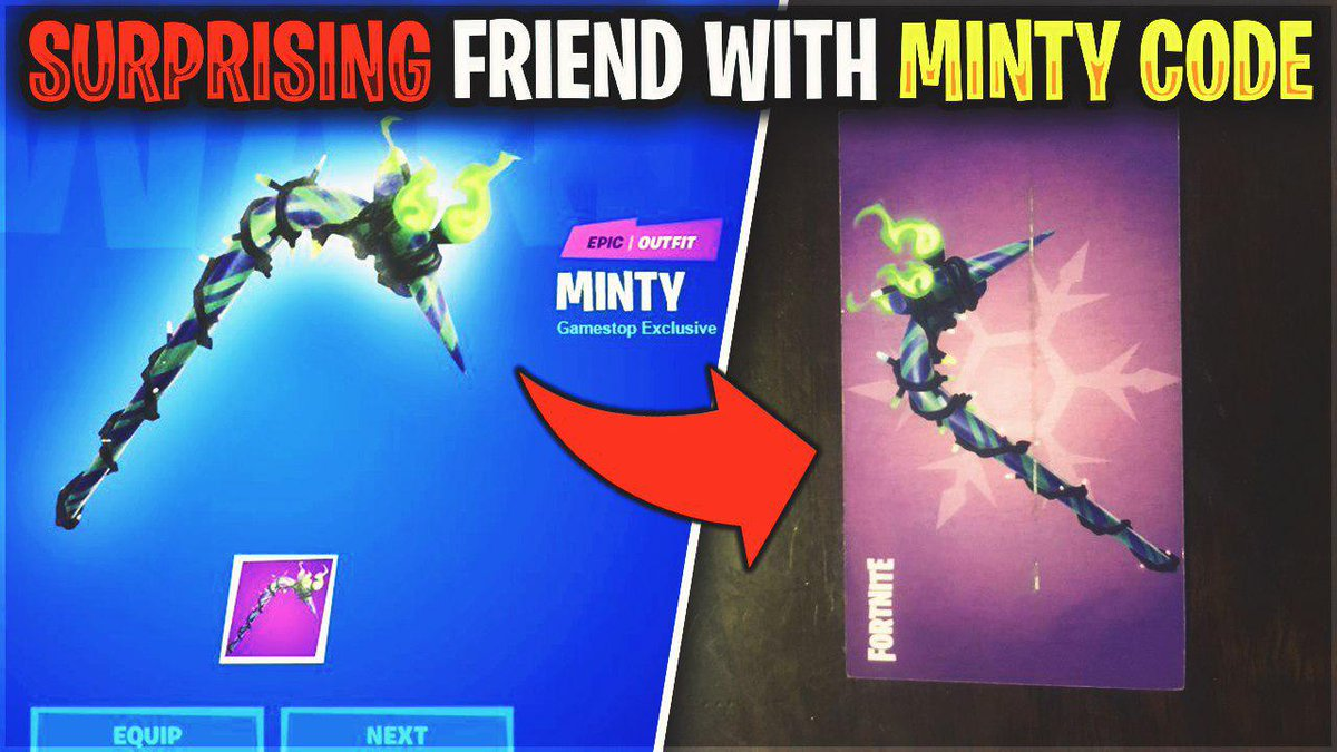 Surprised Him with a MINTY PICKAXE Code  Like + Retweet to be NEXT! ❤️♻️  https://t.co/KeEGwDYy6t https://t.co/YZ9gbzihQn