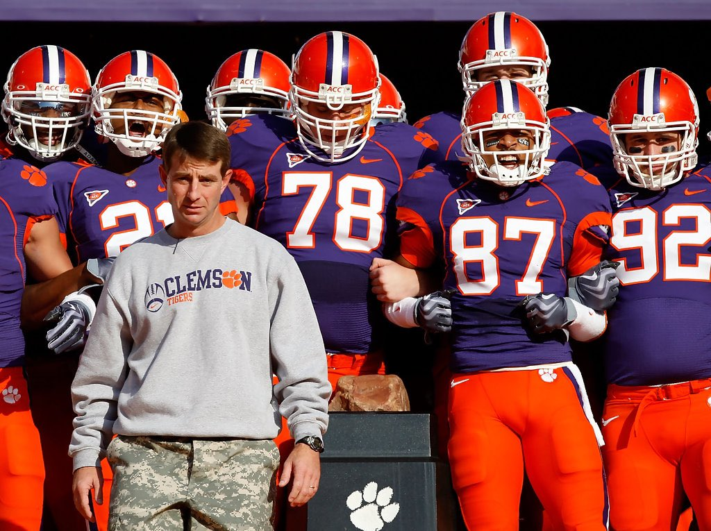 Thread By Apthirteen When Clemson Runs Down The Hill On Saturday They Will Be Wearing