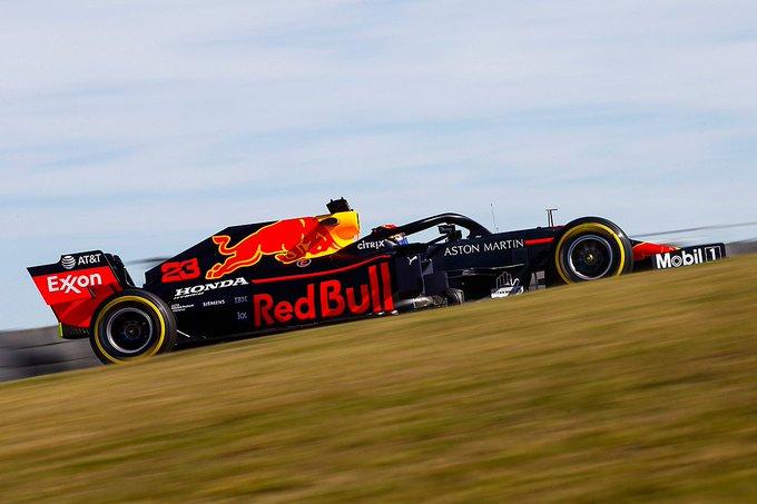 Red Bull durante los test en Austin de los compuestos de 2020