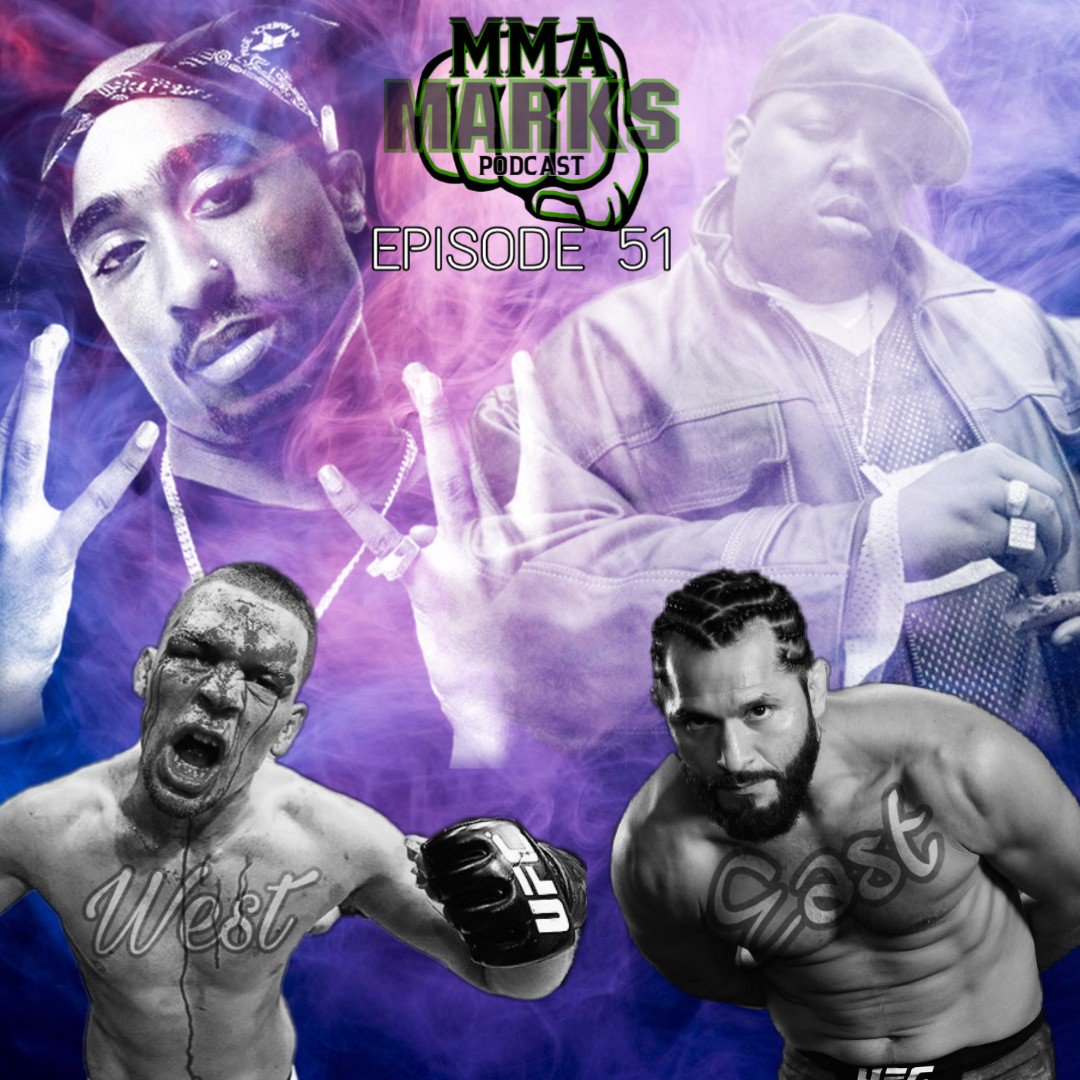 West vs East...let's fucking go!! We are hype af for #ufc244 so many laughs with our friend @GrampyBack on Episode 51 of MMA Marks Podcast!