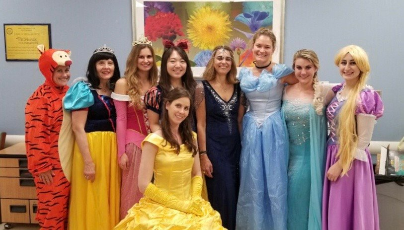 @PittDental Pediatric Dentistry faculty and residents celebrated Halloween in style #disneyprincesses