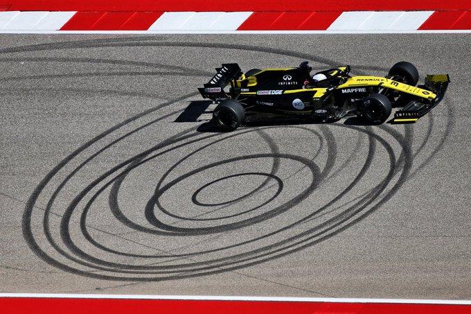 Renault durante los test en Austin de los compuestos de 2020