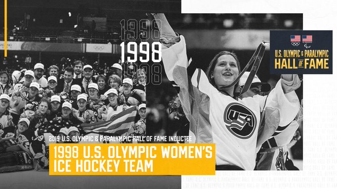 Huge congratulations are in order for the 1998 U.S. Olympic Womens Team, which is being inducted into the #TeamUSAHOF tonight! 🥇🇺🇸 More → bit.ly/2C0aNDU